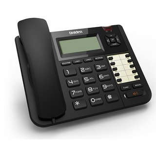 UNIDEN AT8501 Black Corded 2-Line Phone with Speakerphone Caller ID