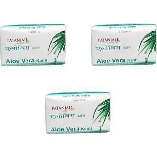 Patanjali Kanti Aloevera Body Cleanser 75gm ( Pack Of 3 )