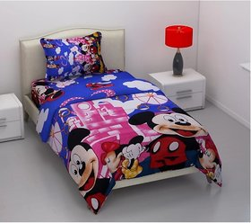z decor single bed bedsheet with pillow cover