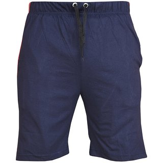 Blushh Collection Navy Men's CottonShort's Pack Of 2