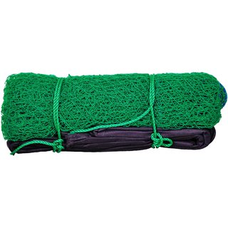 Sonu Sports Badminton Net in High Density Polymer - Green color 22x2.5 foot 4 Sided Tape Longlasting And Durable Net Comes with Cover