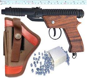 Air Gun Powerful Range Double Spring Air Gun Free 200 Pellets With Cover