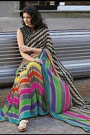 SVB Saree Multicolour Bhagalpuri silk saree