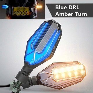 LED Signal Indicator DRL Light for Honda CB Hornet 160R (Blue and Amber)