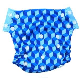 Innate  Cloth Diaper Cover - Building Blocks of Life  Blue