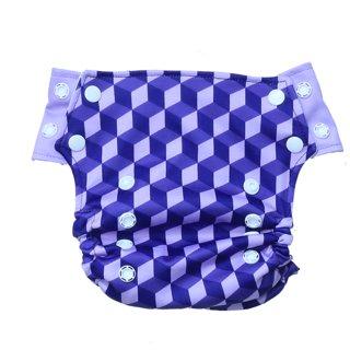 Innate AIO Cloth Diaper - Building Blocks of Life  Purple
