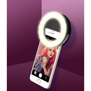 Mobile Screen Light Portable Selfie Light Rechargeable Night LED Selfie Flash Light for Smartphones (Assorted Color)