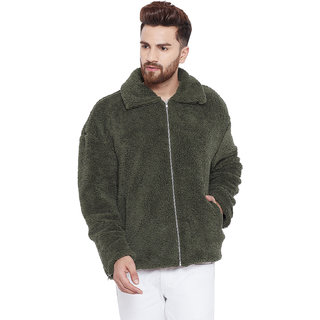 Chill Winston Olive Sherpa Jacket for Men