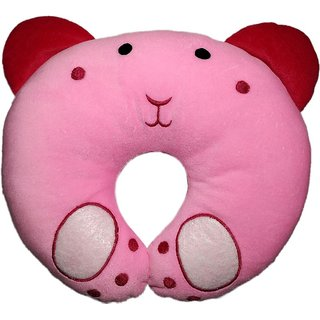 MOM SON PINK PANDA SHAPE Baby Pillow Pack of 1 (Pink)