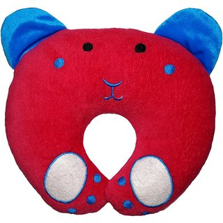 MOM SON PANDA SHAPE Baby Pillow Pack of 1 (Red)