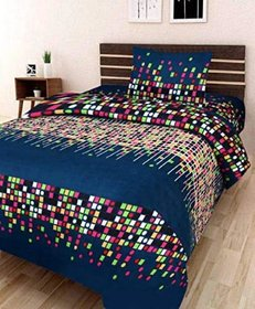 SHAKRIN Single Bed-Sheet with 1 Pillow Cover - Colorful Box