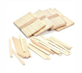 Tausif Creation Wooden Ice-Cream/Kulfi Sticks for Art  Craft DIY (Pack of 250 Sticks)