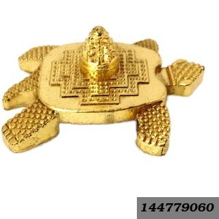 Feng Shui Metal Turtle With Laxmi Yantra Tortoise For Good Wealth Home Decor