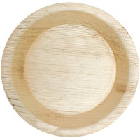 Woodka Premium Eco-Friendly Tableware - 8 Inch Round Plates/Disposable Plates/Leaf Plates (Pack of 25)