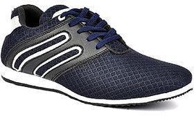 Aapex Men's Blue Lace-up Sneakers Shoes