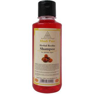 Khadi Pure Herbal Reetha Shampoo - 210ml