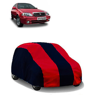 QualityBeast Extreme Car Body Cover for Maruti Esteem (MaroonBlack)