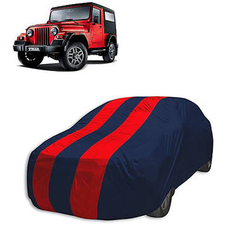 QualityBeast Extreme Car Body Cover for Mahindra Thar (Red Black)
