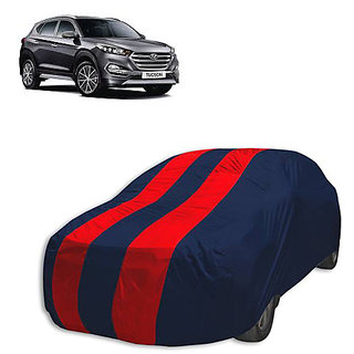 QualityBeast Extreme Car Body Cover for Hyundai Tuscon (Red Black)
