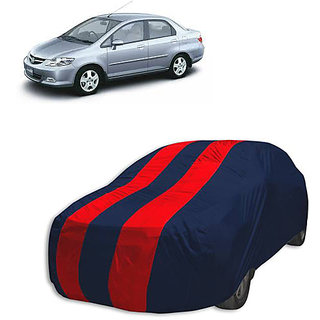 QualityBeast Extreme Car Body Cover for Honda City Old (Red Black)