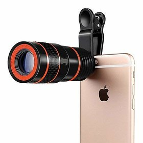 Premium 8X Zoom Mobile Phone Telescope Lens with Adjustable Clip