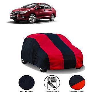 QualityBeast Extreme Car Body Cover for Honda City (MaroonBlack)