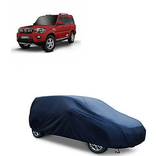 QualityBeast Extreme Car Body Cover for Mahindra Scorpio 9 Seater (Blue)