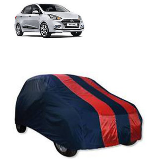 QualityBeast Extreme Car Body Cover for Hyundai Xccent 2018 (RedBlue)