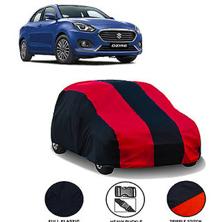 QualityBeast Extreme Car Body Cover for Maruti Dzire (MaroonBlack)