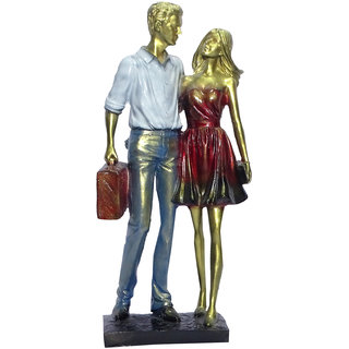 Boon Boon Couple Showpiece (6.5x3.25x13.5 inch)