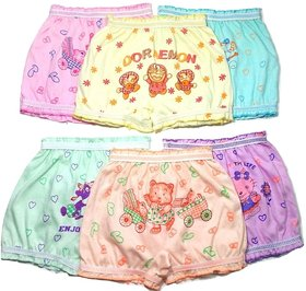 Bexzzor Girls Boys and Kids Pure Cotton Cartoon Printed  Briefs Inner Underwear Panty Bloomers Combo Pack of 6
