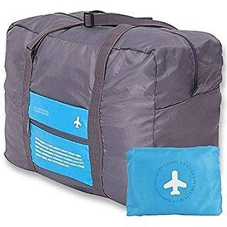 Homeeware Happy Flight Folding Waterproof Multipurpose Travel Bag  Blue Grey