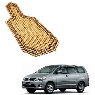 Auto Addict Car Wooden Bead Seat Cover Acupressure Design Set Of 1 Pcs For Toyota Innova