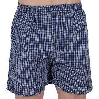 DVG Fashion Men's Cotton Checked Shorts  Navy Color Check's Boxer shorts