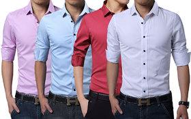 London Looks Men's Shirts (Combo Of 4)