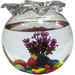 225 & KAPDHOLIA FISH BOWL FLOWER VASE 6 INCH 1.5 L