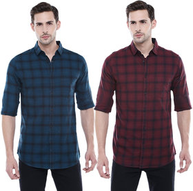 29K Pack Of 2 Checkered Casual Slim fit Shirts