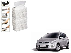 Auto Addict Car Tissue Paper Refiller for Dispenser Box Set of 10 with 200 Sheets(100 Pulls) in Each For Hyundai i20
