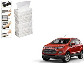 Auto Addict Car Tissue Paper Refiller for Dispenser Box Set of 10 with 200 Sheets(100 Pulls) in Each For Ford Ecosport