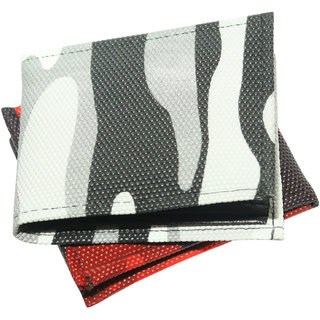 Stylish Multicolor Textured Wallet For Men Pack of 2 (Synthetic leather/Rexine)