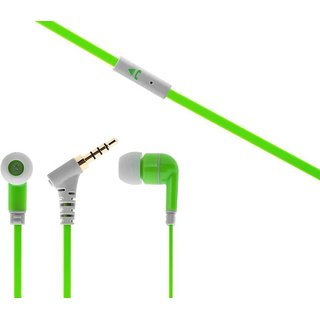 Interstep ISHFIPHO175GR Wired Headset with Mic (Green In the Ear)