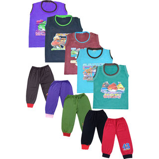 Meia for girls Sleeveless Tees with Cotton CUP pant (Set of 5)
