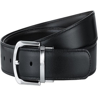 Luxury Designer Store Leather Black Belt For Men