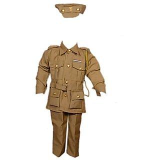 SINGHAM OR SIMBA HERO COSTUME/KHAKI WARDI FANCY DRESS FOR KIDS