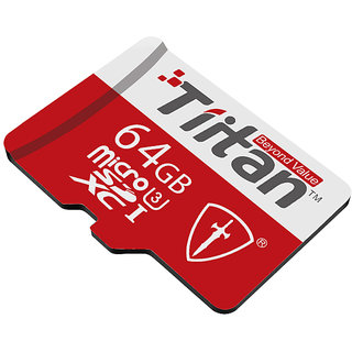 Tiitan 64 GB Class 3 MicroSDHC Card/ Speed up-to 300 MB/s