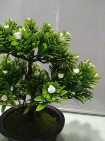 Artifical Bonsai Tree with White flowers