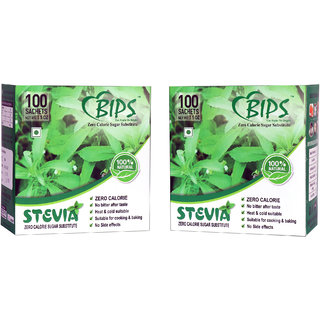 BIPS STEVIA POWDER 1GM SACHETS PACK OF TWO