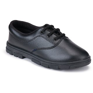 Super kids (boy) black 1202 school shoes
