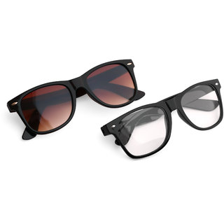 Royal Son Wayfarer Stylish Unisex Sunglasses Combo (Latest Goggles)