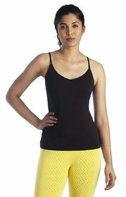 Lavos Womens Cotton Two Way  Camisole LW1127 (Assorted Pack of 1)(Colors May Vary)